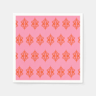 Pink and Orange Napkins Disposable Serviettes