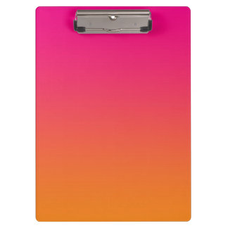 """""""Pink And Orange Ombre"""" Clipboards"""