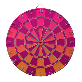 Pink And Orange Ombre Dartboard