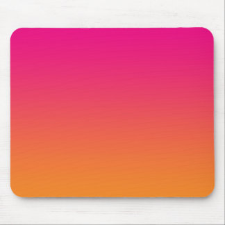"""""""Pink And Orange Ombre"""" Mouse Pad"""