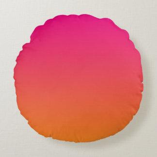 Pink And Orange Round Cushion