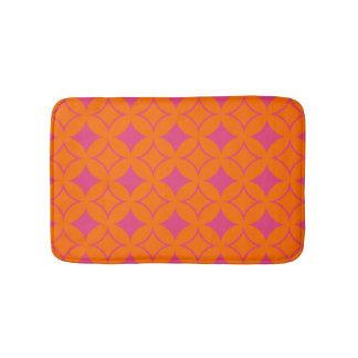 Pink and orange shippo bath mats