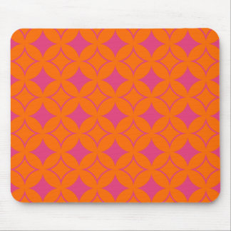 Pink and orange shippo mouse pad