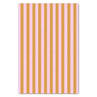 Pink and Orange Stripes Tissue Paper