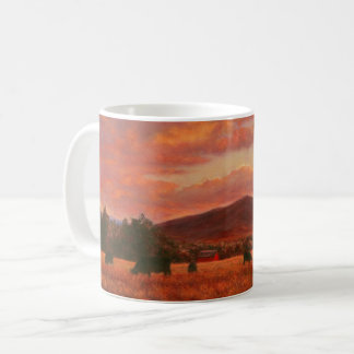 Pink and Orange Sunset with Cattle Mug