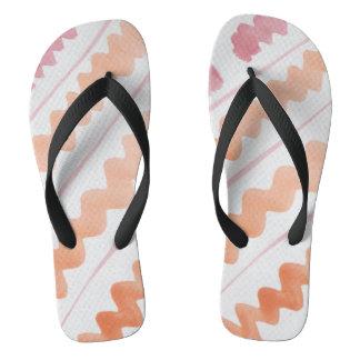Pink and Orange Thongs