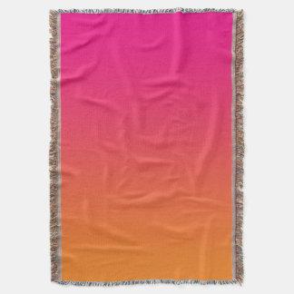 Pink And Orange Throw Blanket