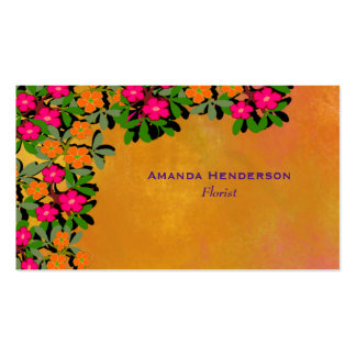 Pink and Orange Wildflowers Pack Of Standard Business Cards