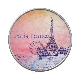 Pink and Pastels Impressionist Paris France Candy Tin