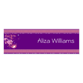 Pink and Purple Abstract Bird Business Cards