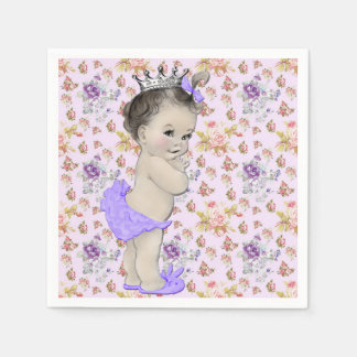 Pink and Purple Baby Shower Disposable Napkin