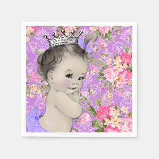 Pink and Purple Baby Shower Disposable Serviette