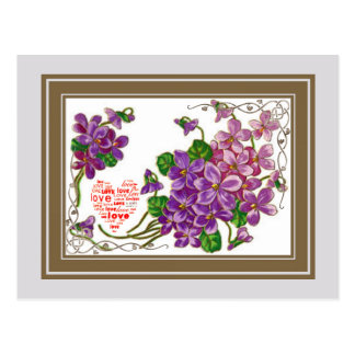 Pink And Purple Flowers Postcard