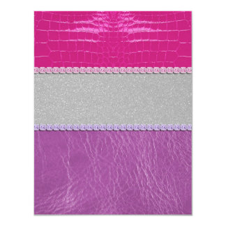 Pink and Purple Glittery Print Card