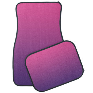 """Pink And Purple Ombre"" Floor Mat"