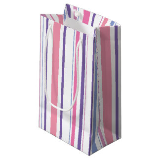 Pink and Purple Striped Gift Bag