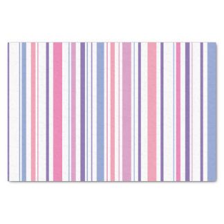 Pink and Purple Striped Tissue Paper