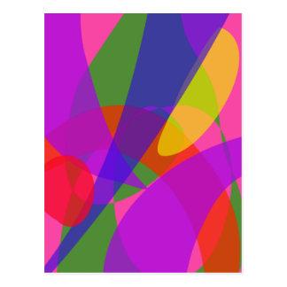 Pink and Purple Vivid Colors Postcard