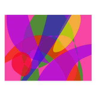 Pink and Purple Vivid Colors Postcard