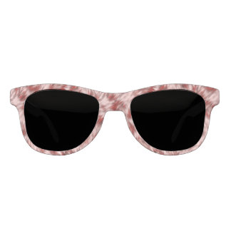 Pink and Red Fake Leopard Fur Pattern Sunglasses