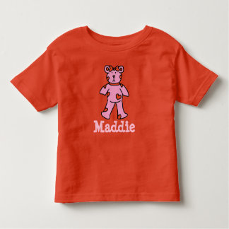 Pink and red heart bear shirt