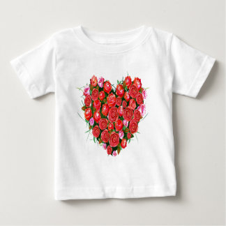 Pink and Red Roses Baby T-Shirt