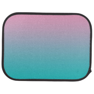 """""""Pink And Turquoise Ombre"""" Car Mat"""