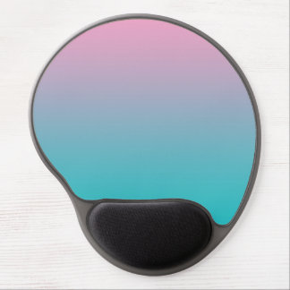 """""""Pink And Turquoise Ombre"""" Gel Mouse Pad"""