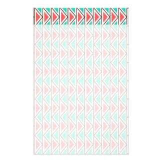 Pink and Turquoise Triangle Aztec Tribal Pattern Stationery