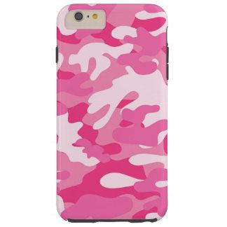 Pink and White Camo Design Tough iPhone 6 Plus Case