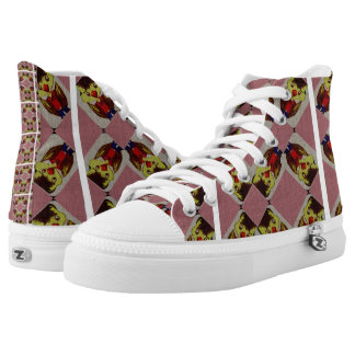 Pink And White Duck Boy Shoes Printed Shoes
