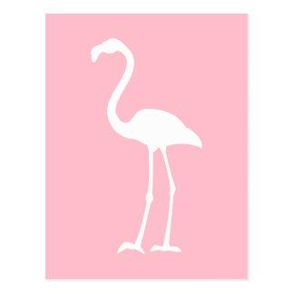 Pink and White Flamingo Postcard