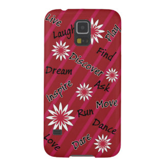 Pink and white flower motivational Samsung galaxy Cases For Galaxy S5