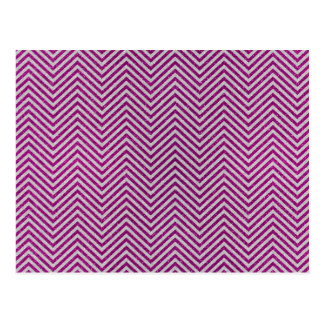 Pink and White Glitter Zig Zag Postcard
