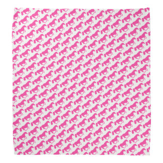 Pink and white horse or pony kerchief