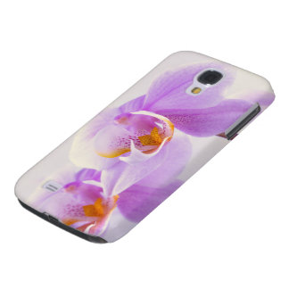 Pink and White Orchids Galaxy S4 Case