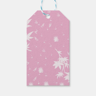 Pink and White Plants Gift Tags