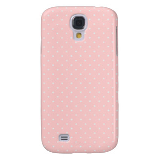 Pink and White polka dot Galaxy S4 Case