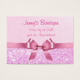 54 pink white bow business cards and pink white bow business card pink and white polka dot with pink bow amp glitter business card colourmoves