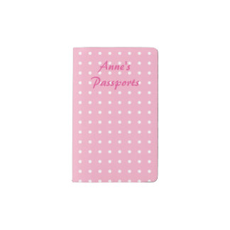Pink and white polka dots pocket moleskine notebook