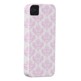 Pink and White Shabby Chic Damask Pattern Case-Mate iPhone 4 Case
