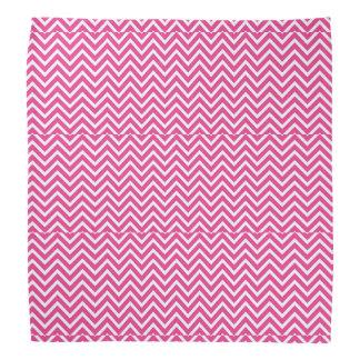 pink and white zigzag bandana