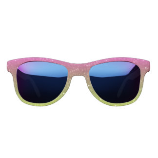 Pink And Yellow Glimmer Sunglasses