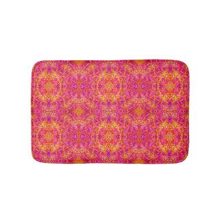 Pink and Yellow Pattern Bath Mats