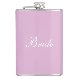 Pink Angora Custom Bride Bachelorette Party Flask