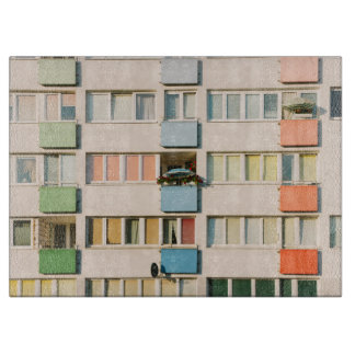 Pink Apartment Building, Uran Architecture Cutting Board