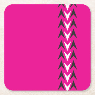 Pink Arrowhead Coasters Design