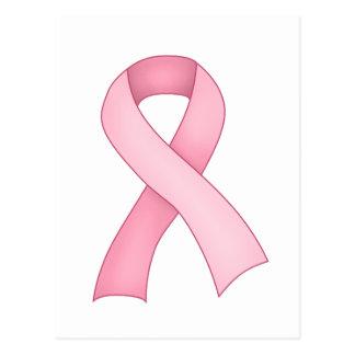 Pink Awareness Ribbon Postcard 0001