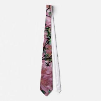 Pink Azalea flowers Tie