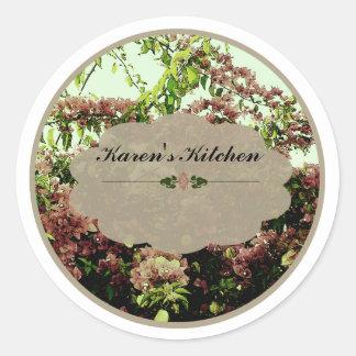 Pink Azaleas labels Round Sticker